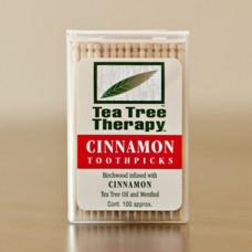 Tea Tree Therapy Toothpicks Cinnamon & Tea Tree Oil 100ct