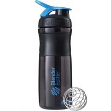 Blender Bottle Sportmixer Black & Cyan 28oz